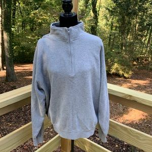 Orvis half zip cotton pullover